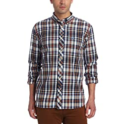 Fred Perry Men's Homespun Madras Shirt