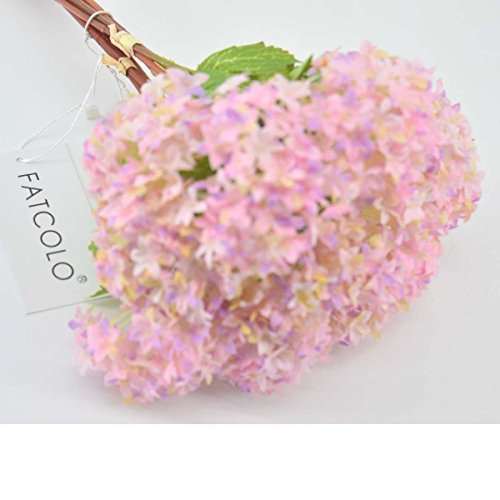 12 pcs/lot Lovely Mini Hydrangea Artificial Fake plastic Mini Fresh Silk Flower Arrangement Home Home Decorative Flowers Bouquet Dining-table Hotel party Wedding DIY Craft fake flores marriage decoration (pink)