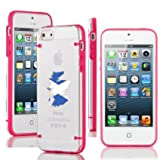 Apple iPhone 4 4s Ultra Thin Transparent Clear Hard TPU Case Cover Scotland Scottish Flag (Hot Pink)