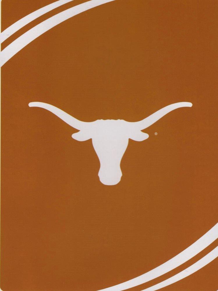NCAA Texas Longhorns 60-Inch-by-80-Inch Raschel Plush Blanket ''Force'' Design