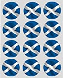 12 Scottish Scotland Flag rice paper fairy / cup cake 40mm toppers pre cut decoration