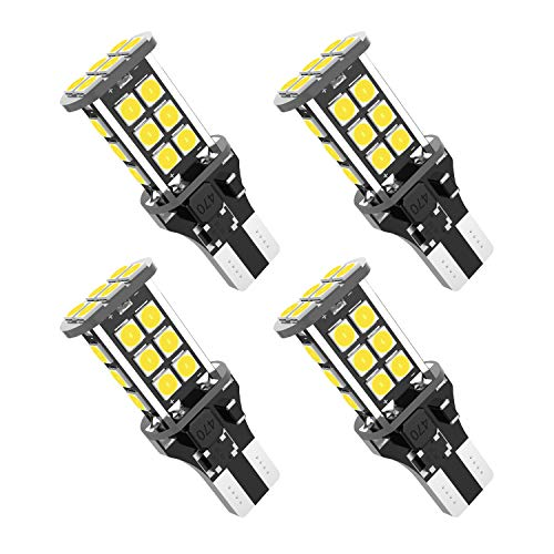 921 led bulb T15 912 W16W 3030 24SMD Chipsets LED Bulbs Used For Backup Reverse Lights, Xenon White(4pcs/pack)