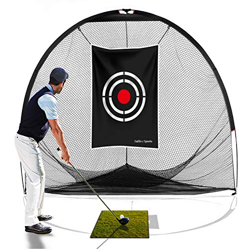 Galileo Golf Nets Golf Practice Net Hitting Netting for Backyard Portable Driving Range Golf Cage Indoor Golf Net Training Aids with Target 8'x7'x7' -