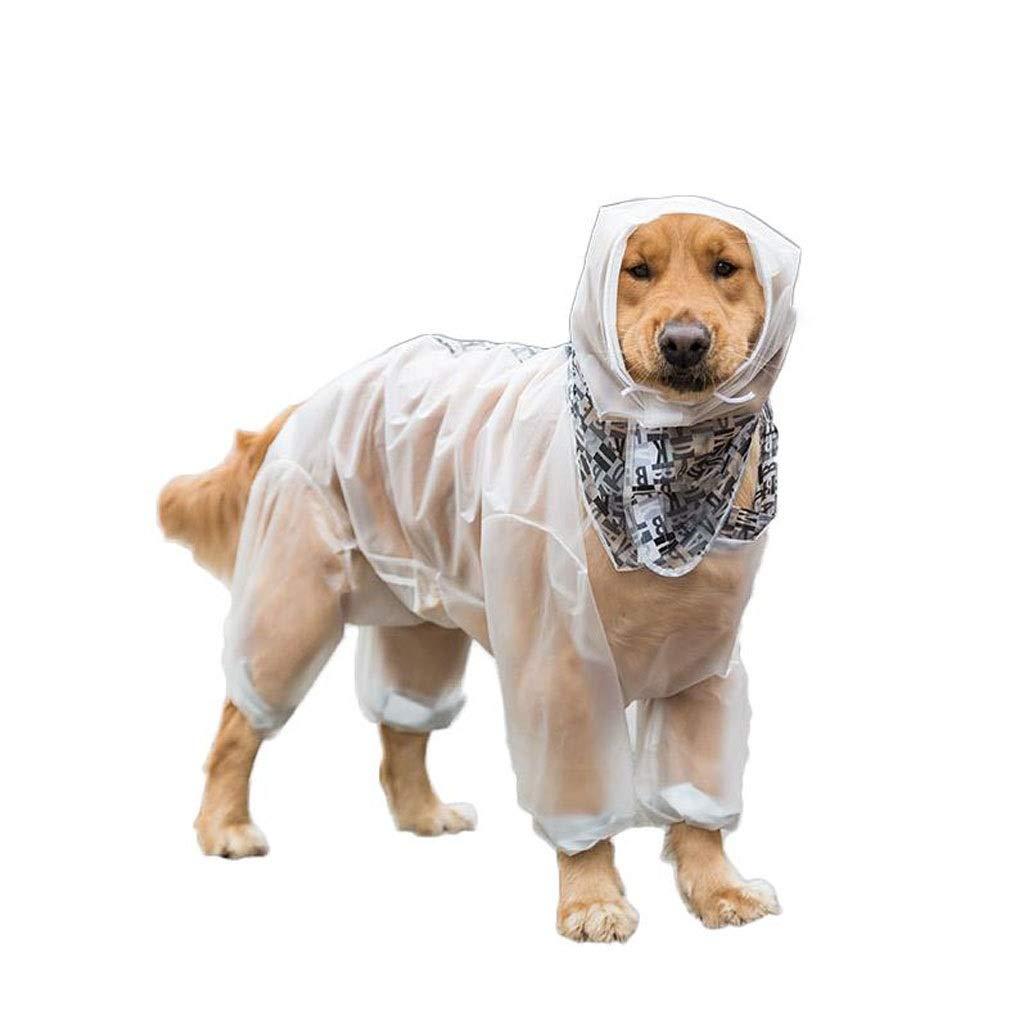 White XXL LZRZBH Pet Supplies Pet Cloak Raincoat Dog Four Feet Waterproof Allinclusive Big Dog Clothes Pet Warm CoatBlack, White(SXXL) (color   White, Size   XXL)