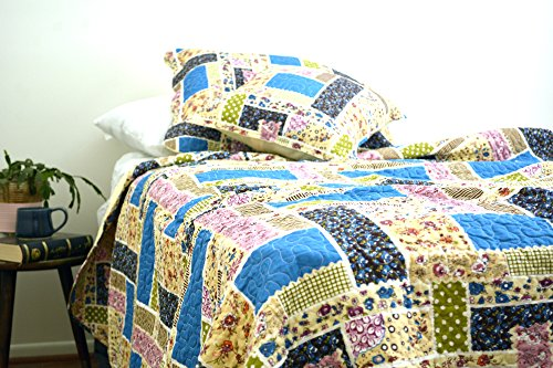 DaDa Bedding DXJ103269-1 Colorful Cotton Patchwork 5-Piece