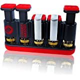 Finger Master Hand Strengthener ✠ Best Exerciser for Arthritis Therapy and Grip & Finger Strengthening Whether for Guitar Practice, Rock Climbing Training as well as Trigger Finger Training - Red