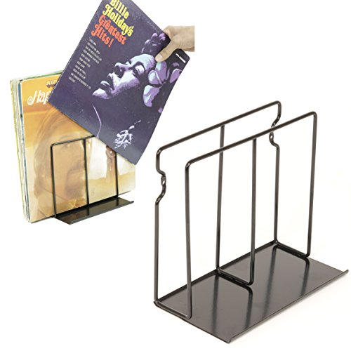 WALLNITURE Vinyl Record Album Collection Wall Mounted Display Shelf Rack Steel Black Set of (2 Record Storage)
