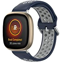 VeveXiao Bandje, compatibel met Fitbit Versa 3, Fitbit Sense-band, zachte siliconen reserveband, sportarmband…