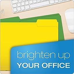 Pendaflex File Folders, Letter Size, 1/3 Cut, Assorted Colors, 50 Folders per Box (75706)