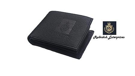 Rudraksh Enterprises Black Leather Men's Wallet  7 Card Slot Wallets