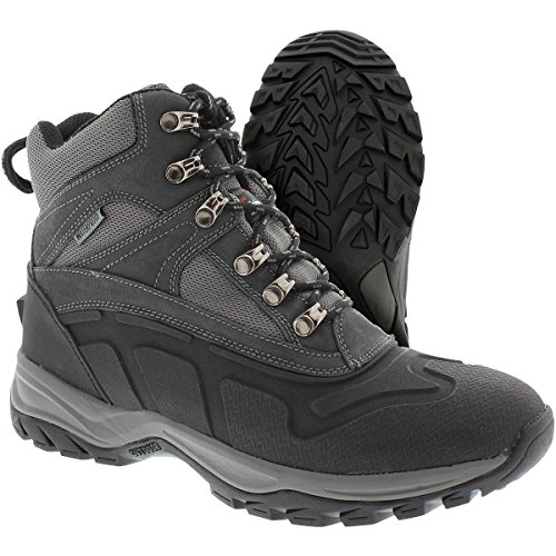 Itasca Men's Waterproof Shredder 200g Thinsulate Size 7 Snow Boot, Grey, 7.0 D US ()