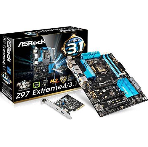ASRock Z97 EXTREME4/3.1 LGA1150 Intel DDR3 Quad CrossfireX & Sli SATA3&USB3.1 M.2&SATA Express A&GbE