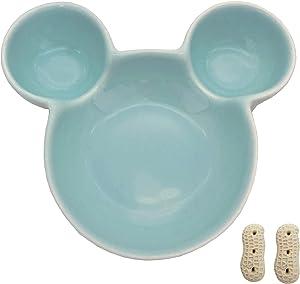 Ooooknpc Pet Hamster Ceramic Heart Carrot Mickey Food Bowl Cute Small Animal Feeder Pet Tableware