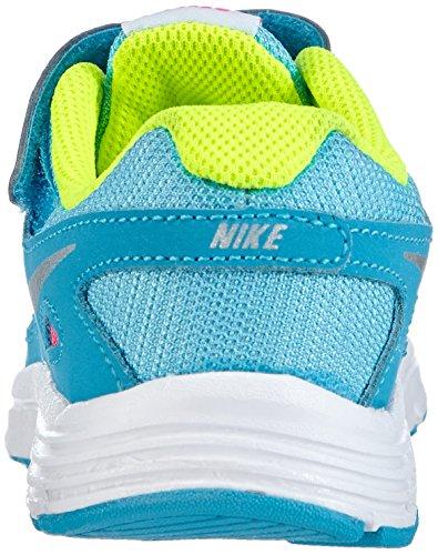 Nike Revolution 2 Psv, Zapatillas de Deporte Para Niñas Azul / Rosa / Plateado / Verde (Clrwtr / Mtllc Slvr-Bl Lgn-Vlt)