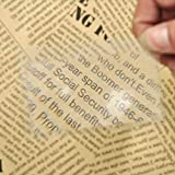 1PC Mini Credit Card Size Magnifier Reading Magnifying Glasses Lens Pocket Magnifiers Portable Transparent Magnifying Glass