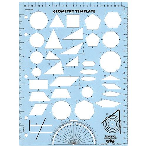 Learning Advantage Geometry Template - Shape Piece 5 Metrics