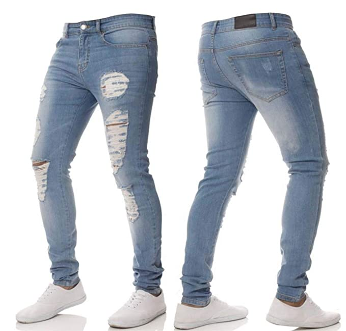 Battercake Pantalones Hombre Super Estiramiento Skinny Fit ...