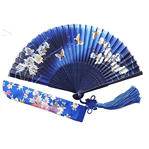 Wise Bird Chinese Japanese Folding Hand Fan for women
