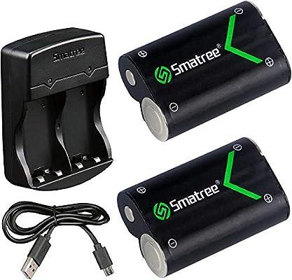 Smatree Batería de Controlador Xbox One, Batería Recargable 2000mAH (Pack-2) & Cargador de Batería Dual para Xbox One, Xbox One Elite, Xbox One S, Xbox One X: Amazon.es: Videojuegos