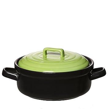 BKPH Cerámica Cazuela Olla Estofado Pote de Guiso Cocinar Sopa Abierto Fuego 400 Grados Alta Temperatura