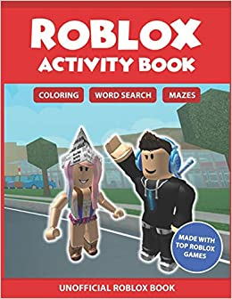 Roblox Activity Book: Coloring, Word search & Mazes: Made with Top