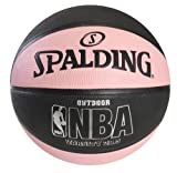 Spalding NBA Varsity Outdoor Rubber Basketball - Black/Pink - Intermediate Size 6 (28.5')