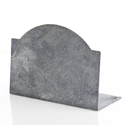 Classy-Shabby-Chic-Look-Miniature-Gray-Zinc-Chalkboard-for-Placecards-Fairy-Garden-Decor-Decorating-and-More-Package-of-4