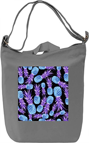 Pineapple Print Borsa Giornaliera Canvas Canvas Day Bag| 100% Premium Cotton Canvas| DTG Printing|