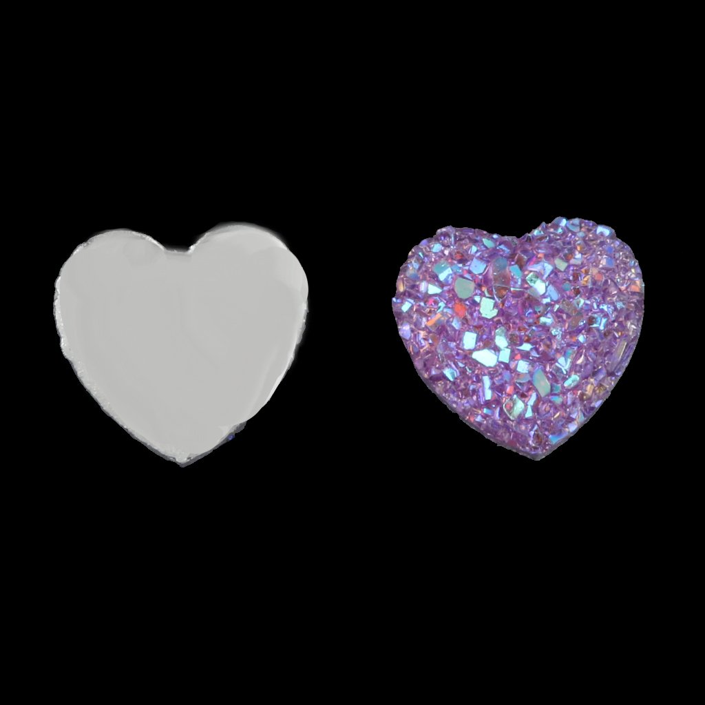Multi 50PCS Resin Rhinestone Heart Shape Flatback Embellishments for Scrapbooking 12mm