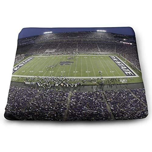 IEIKKD Kansas State University Stadium Seat Cushion Pads Memory Foam Chair Pad Reversible Square Seat Cover Delicate Printing