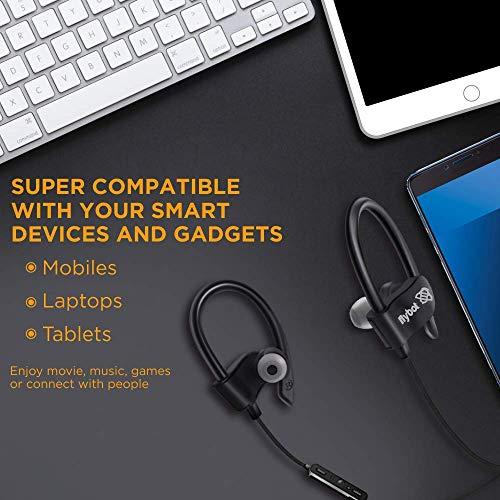 Flybot Wave in-Ear Sport Wireless Bluetooth Earphone with Mic and IPX4 Sweatproof – (Black)