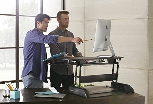 VARIDESK Pro Plus 36 - Height-Adjustable Standing Desk - Black