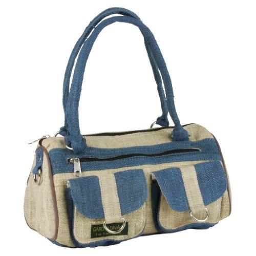 Earth-Divas-MH-132-LBL-Light-Blue-Hemp-2-Pockets-Round-Handbag