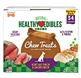 Nylabone Healthy Edibles Natural Dog Treats, Extra-Small Dog Chews, 34 Pack