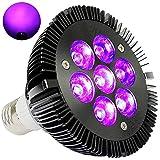 Black Light Bulb, KINGBO 14W LED UV Light E26 PAR30 Glow in The Dark Light, 395nm LEDs Super Bright for Blacklight Party Birthday Wedding DJ Stage Dance Floor Lighting