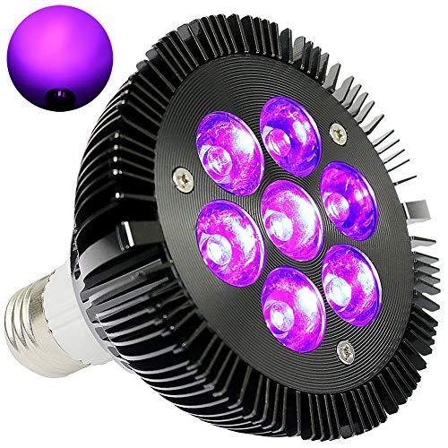 (Black Light Bulb, KINGBO 14W LED UV Light E26 PAR30 Glow in The Dark Light, 395nm LEDs Super Bright for Blacklight Party Birthday Wedding DJ Stage Dance Floor Lighting)