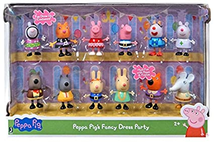 32585ed53b2 Peppa Pig Peppa Pig Fancy Dress Party Exclusive Figure 12-Pack