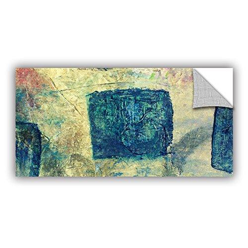 "ArtWall Elana Ray's Blue Golds Art Appeelz Removable Graphic Wall Art, 12 x 24"""