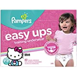 Pampers Easy Ups Training Pants Pull On Disposable Diapers for Girls Size 4 (2T-3T), 80 Count, SUPER