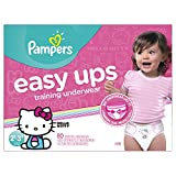 Pampers Easy Ups Training Underwear for Girls, Size 4 (2T-3T), Super Pack, 80 Count