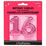 Toys : Amscan No. 16 Glitter Candle | Sweet Sixteen Collection | Birthday