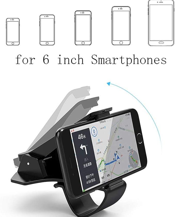 Soporte Universal para teléfono para Auto, para Smartphones de 3,5-6,5 Pulgadas Tablero de Instrumentos Clip para Enganche para iPhone XS XS Máx.: Amazon.es: Electrónica