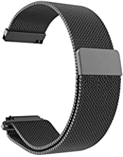 20mm Milanese Loop Magnetic Stainless Steel Watch Band for Xiaomi Amazfit Youth bip Smart Watchband Strap Wrist Bracelet