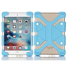 Tsmine RCA Viking Pro/Cambio W101 V2 Tablet Silicone ShockProof case -Universal Elastic Stand Soft Skin Cover,Light Blue
