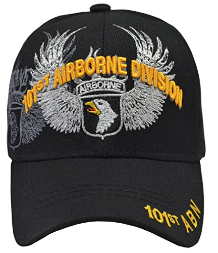 U.S. Warriors 101st Airborne Division Eagle Black Hat