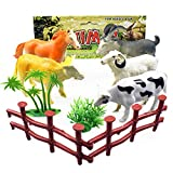 Roysberry Toys - 9pcs Educational Simulated Farm Animals Model 3D Puzzle Shape Color Recognition Geometric Board Block Alphabet Puzzles Toys Birthday Gift Toy Jigsaw Puzzles Toys for Kids