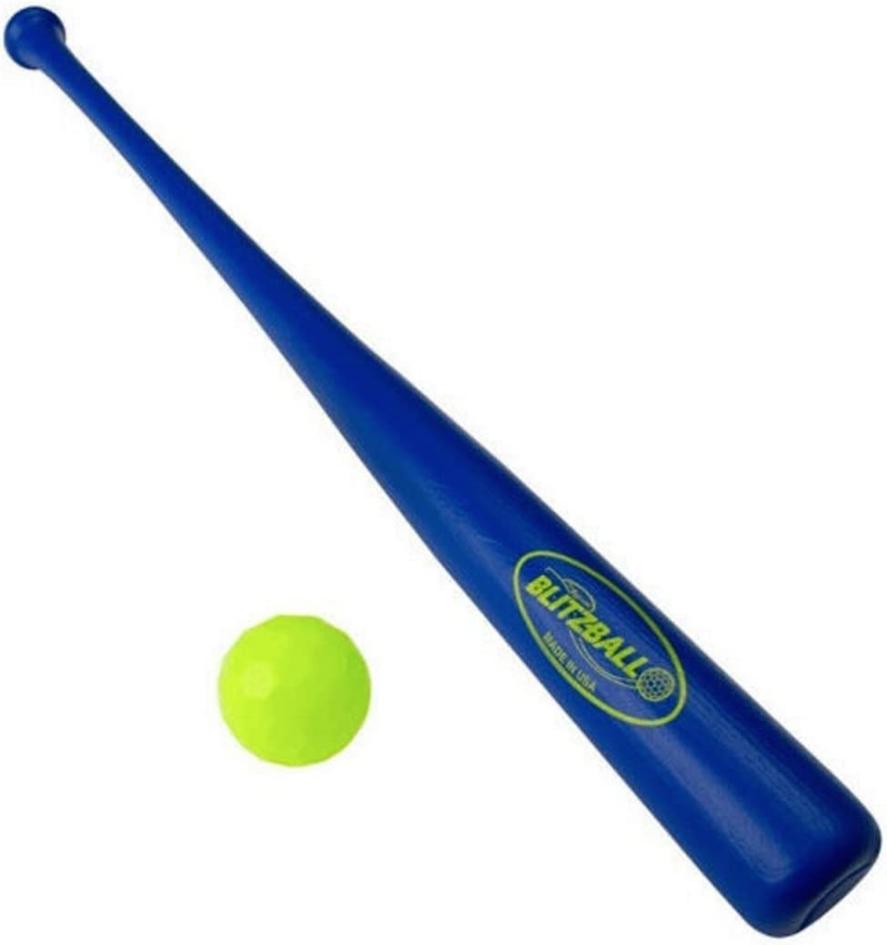 GameMaster blitzball Backyard bate de béisbol y bola azul: Amazon ...