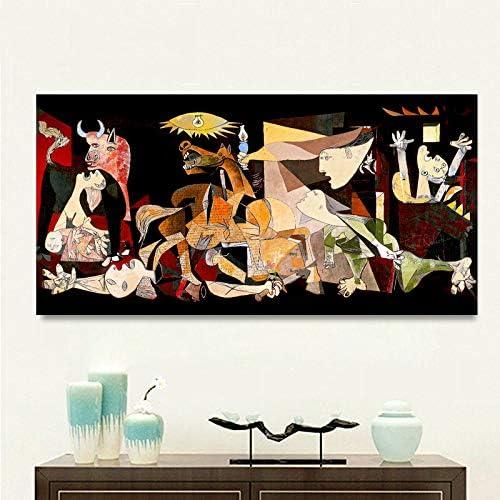 SDFSD Spanien Frankreich Picasso Guernica Vintage Klassische Deutschland Abbildung Leinwand Kunstdruck Malerei Poster Wandbild F/ür Hauptdekoration50x100 cm
