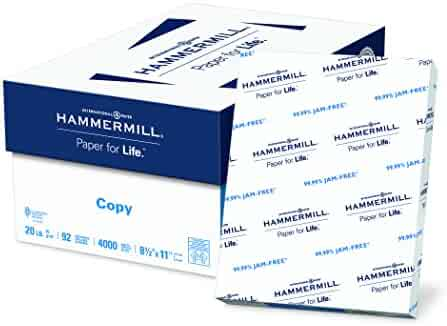 Hammermill Paper, Copy Paper, 8.5 x 11 Paper, Letter Size, 20lb Paper, 92 Bright, 8 Ream Case / 4,000 Sheets (113640C) Acid Free Paper