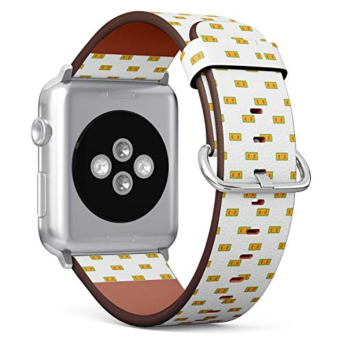 - Compatible with Apple Watch (Big 42mm/44mm) Series 1,2,3,4 - Leather Band Bracelet Strap Wristband Replacement - Football Score Cartoon
